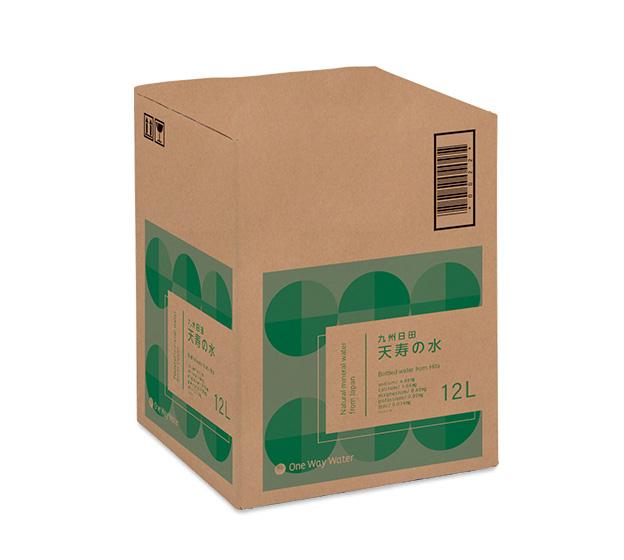 ワンウェイウォーター天寿の水12Lボトルパッケージ
